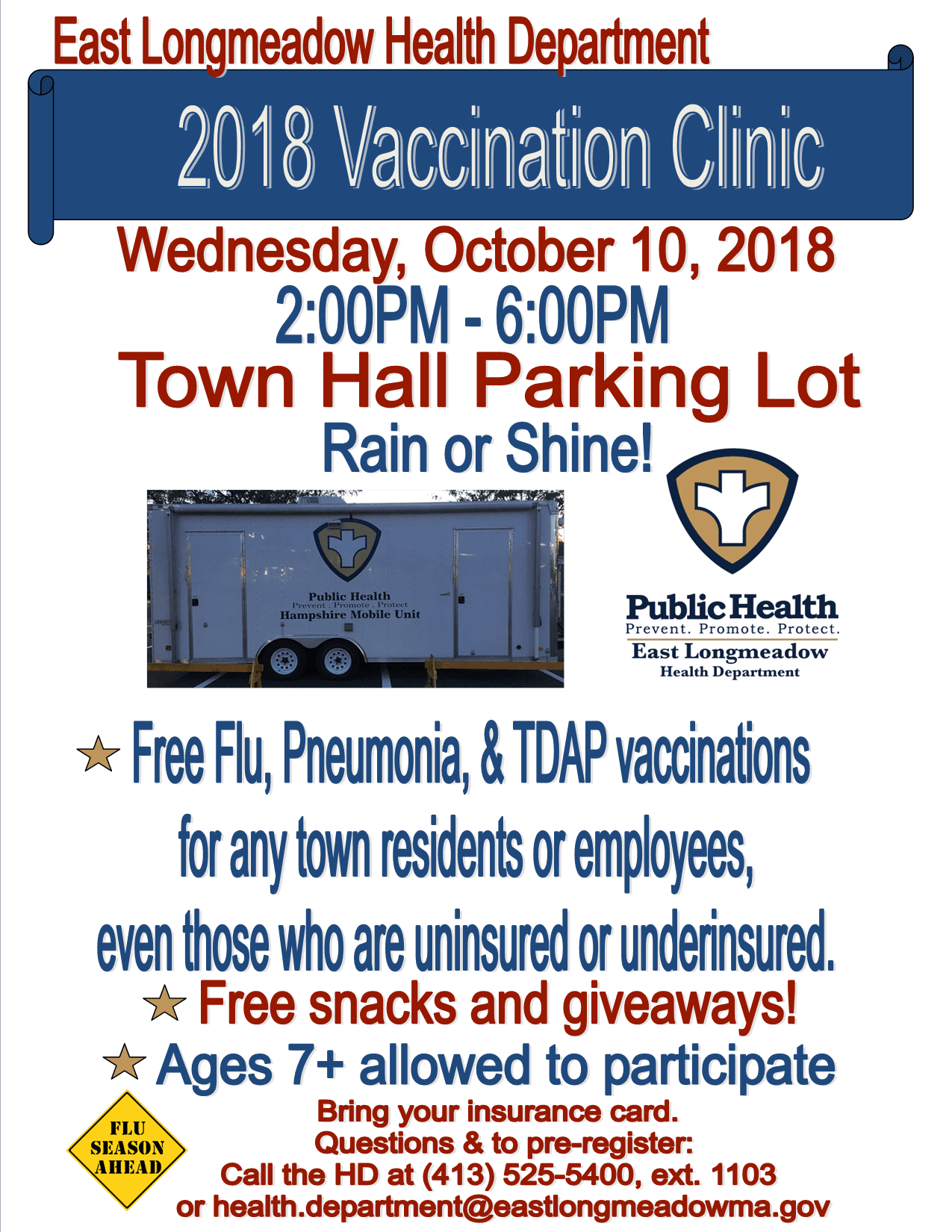 Vaccination Clinic Flyer Town Hall Portion