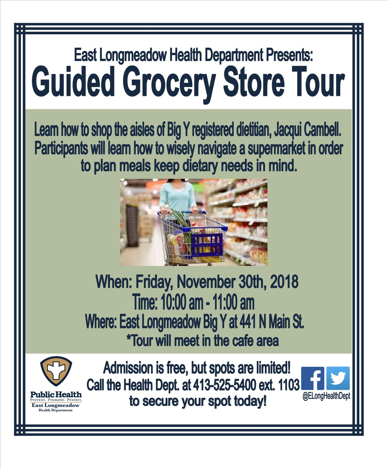 Grocery Store Tour Flyer