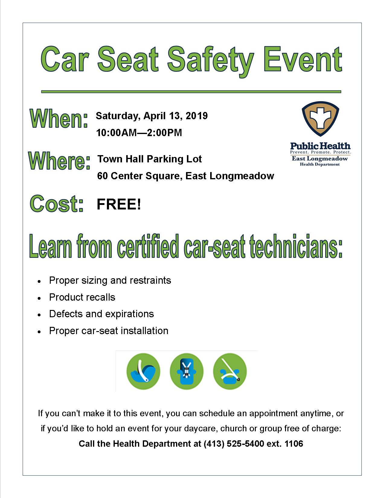 Car Seat Safety Check Event 0413 2019