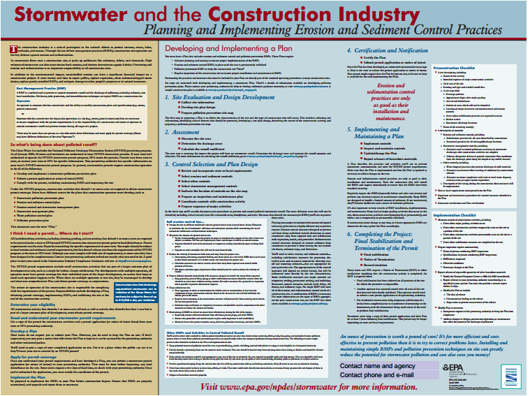 Stormwater and the Construction Industry