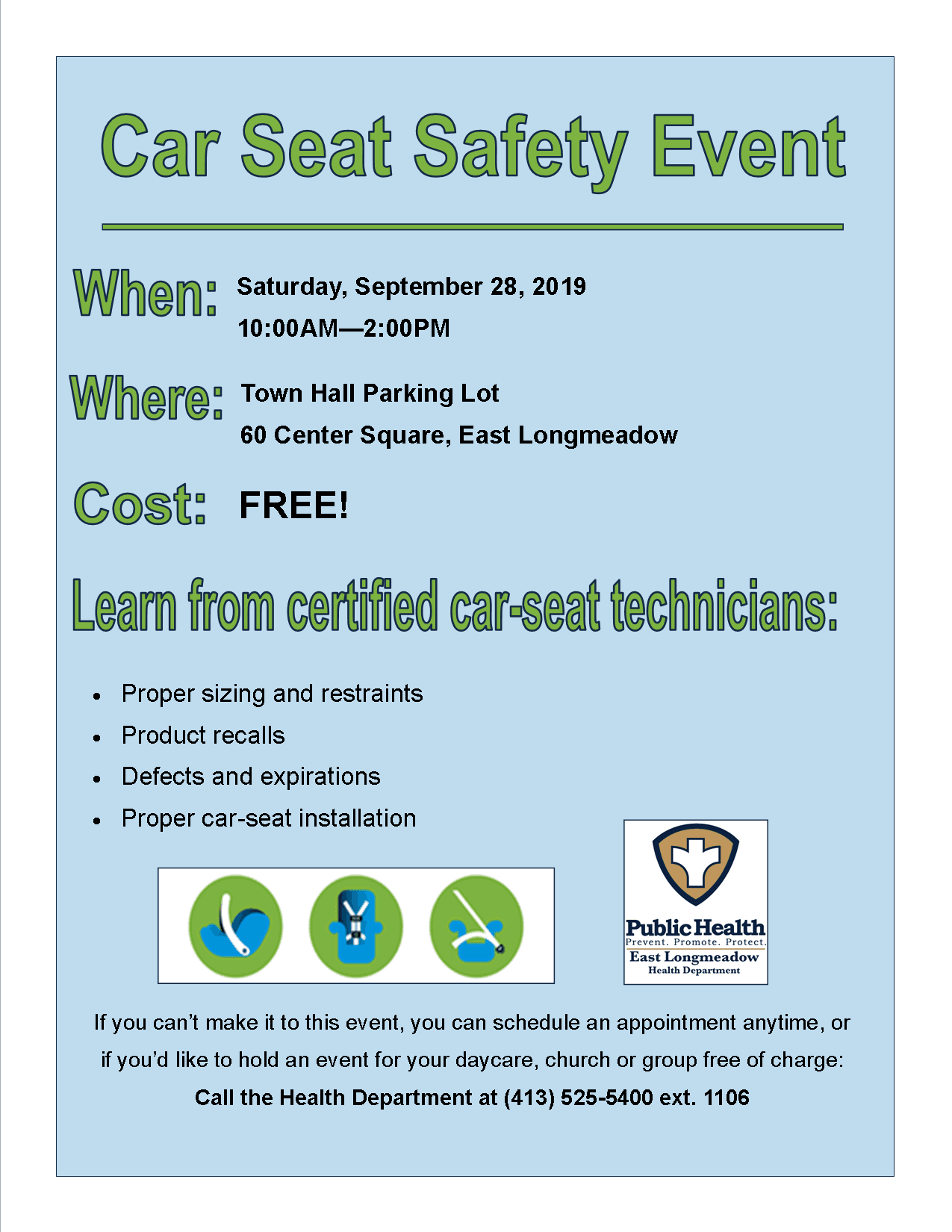 Car Seat Safety Check Event 0928 2019